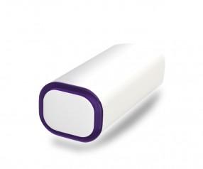 PowerBank Werbegeschenk POWER+ Klio weiss violett
