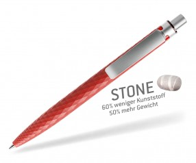prodir STONE QS01 PQS Q20-S70 S Roter Quarzit-Silber satiniert