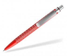 prodir QS40 Air PMS M20-S70-S nachhaltiger Kugelschreiber Rot-Silber satiniert