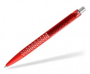 prodir QS40 Air PRT R20-S nachhaltiger Kugelschreiber Rot-Silber satiniert