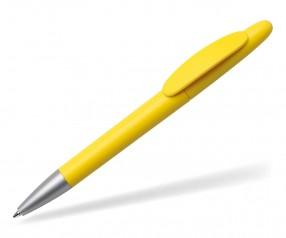 Quatron Icon silver Kugelschreiber gelb 0116