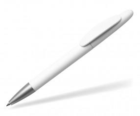 Quatron Icon silver Kugelschreiber weiss 0001