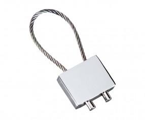 Schlüsselanhänger REFLECTS-CABLE MATT Werbegeschenk mattsilber, silber