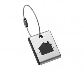 Einkaufswagenchiphalter REFLECTS-WINSTED mit Werbeanbringung schwarz, silber