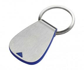 Einkaufswagenchiphalter REFLECTS-AGUDOS BLUE mit Werbeanbringung blau