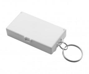 Werkzeugset mit Schlüsselanhänger REFLECTS-UBERABA WHITE Werbemittel weiß