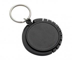 Schlüsselanhänger mit Taschenhaken REFLECTS-GRAZ BLACK Werbemittel schwarz