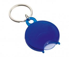 Einkaufswagenchiphalter REFLECTS-TALLAGHT BLUE mit Werbeanbringung blau, transparent