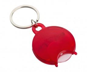 Einkaufswagenchiphalter REFLECTS-TALLAGHT RED mit Beschriftung rot, transparent
