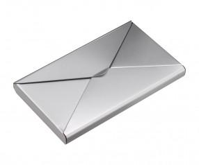 Visitenkartenbox REFLECTS-MINDELO Promotion-Artikel silber