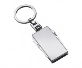 Werkzeugset mit Schlüsselanhänger REFLECTS-MILAN Werbemittel silber