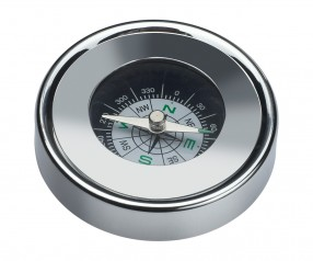 Kompass REFLECTS-CORK mit Logo silber