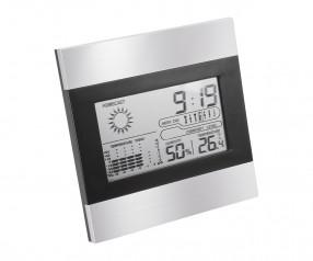 Wetterstation REFLECTS-BENTONVILLE mit Werbeanbringung schwarz, silber