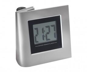 Wasserbetriebene Uhr REFLECTS-GADEVANG mit Logo silber