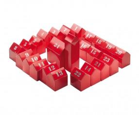 Adventskalender REFLECTS-KOMÁROM mit Werbeanbringung rot