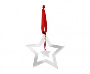 Weihnachtsbaumschmuck REFLECTS-NIVELLES mit Beschriftung silber
