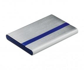 Visitenkartenbox REFLECTS-JANAÚBA SILVER BLUE Werbemittel blau, silber, silber/blau