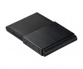 Visitenkartenbox REFLECTS-SARZEDO BLACK Werbepräsent schwarz