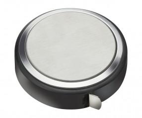 Maßband REFLECTS-TOMELLOSO mit Beschriftung schwarz, silber