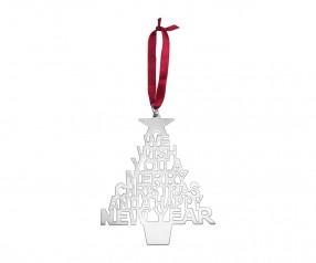 Weihnachtsbaumschmuck REFLECTS-SANTA FE mit Beschriftung silber
