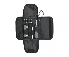 Werkzeugset REFLECTS-KALUGA Werbeartikel schwarz, silber