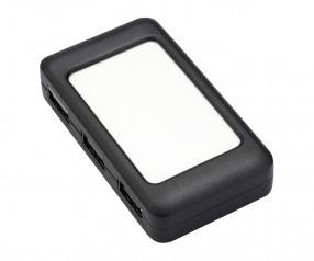 REFLECTS USB-Hub mit 4 Anschlüssen LOLLIBLOCKS-USB HUB BLACK mit Werbeanbringung schwarz