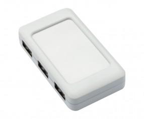 REFLECTS USB-Hub mit 4 Anschlüssen LOLLIBLOCKS-USB HUB WHITE Werbeartikel weiß