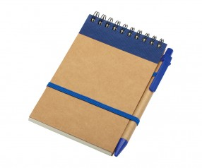 REFLECTS Notizbuch CLIC CLAC-FOGGIA DARK BLUE Werbemittel dunkelblau