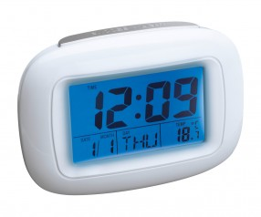Alarmuhr mit Thermometer REFLECTS-DILI WHITE Werbeartikel weiß