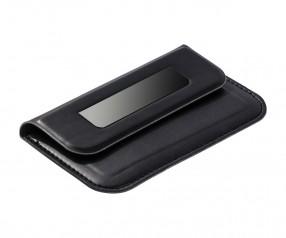 Visitenkartenbox REFLECTS-LIMOGES BLACK mit Beschriftung schwarz
