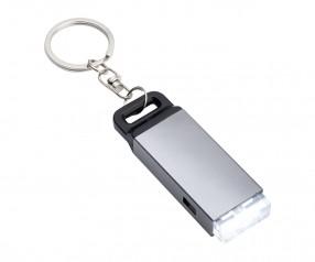 Taschenlampe REFLECTS-FUNCHAL SILVER mit Werbeanbringung silber