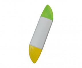 REFLECTS Textmarker CLIC CLAC-GETAFE WHITE mit Logo weiß