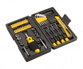 Werkzeugset REFLECTS-KERCH Werbeartikel schwarz/gelb
