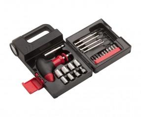 Werkzeugset mit Lampe REFLECTS-JAMBI Werbemittel schwarz