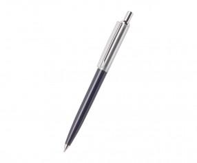 REFLECTS Kugelschreiber CLIC CLAC-TARENT BLUE mit Werbeanbringung blau, silber