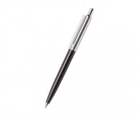 REFLECTS Kugelschreiber CLIC CLAC-TARENT BLACK mit Beschriftung schwarz, silber