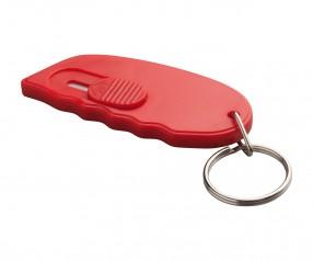 Minicutter mit Schlüsselring REFLECTS-TONGI RED Werbegeschenk rot