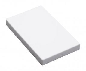 Visitenkartenbox REFLECTS-KELMIS WHITE WHITE mit Logo weiß, weiß / weiß