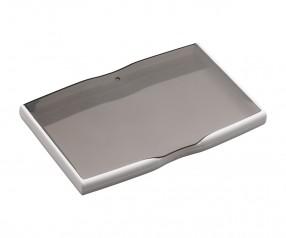 Visitenkartenbox REFLECTS-MELAKA WHITE GREY mit Beschriftung grau, weiß, weiß/grau
