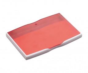 Visitenkartenbox REFLECTS-MELAKA WHITE RED Werbeartikel rot, weiß, weiß / rot