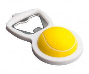 Flaschenöffner REFLECTS-RYKI mit Werbeanbringung gelb, weiß