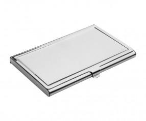 Visitenkartenbox REFLECTS-MONTEVIDEO mit Werbeanbringung silber