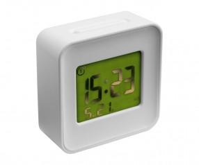 Smart Alarmuhr REFLECTS-ERANDIO WHITE mit Logo weiß
