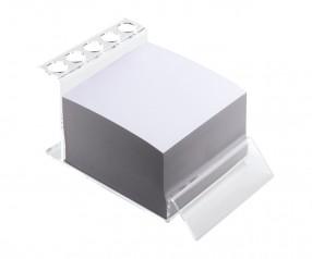 Stifthalter mit Notizblock REFLECTS-DUDLEY Werbepräsent transparent