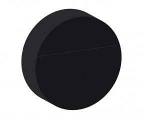 REFLECTS USB-Speicherstick CIRCLE 4GB Werbepräsent frei wählbar (in Annäherung an Pantone), schwarz