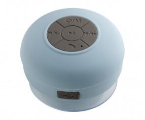 Bluetooth® Duschlautsprecher mit Radio REFLECTS-AVIGNON LIGHT BLUE Werbepräsent hellblau