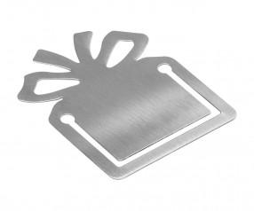 Lesezeichen REFLECTS-TUPELO Werbepräsent silber