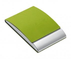 Visitenkartenbox REFLECTS-VANNES LIGHT GREEN Werbegeschenk hellgrün