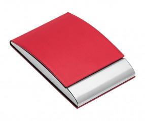 Visitenkartenbox REFLECTS-VANNES RED Werbepräsent rot
