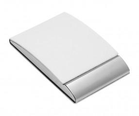 Visitenkartenbox REFLECTS-VANNES WHITE Promotion-Artikel weiß